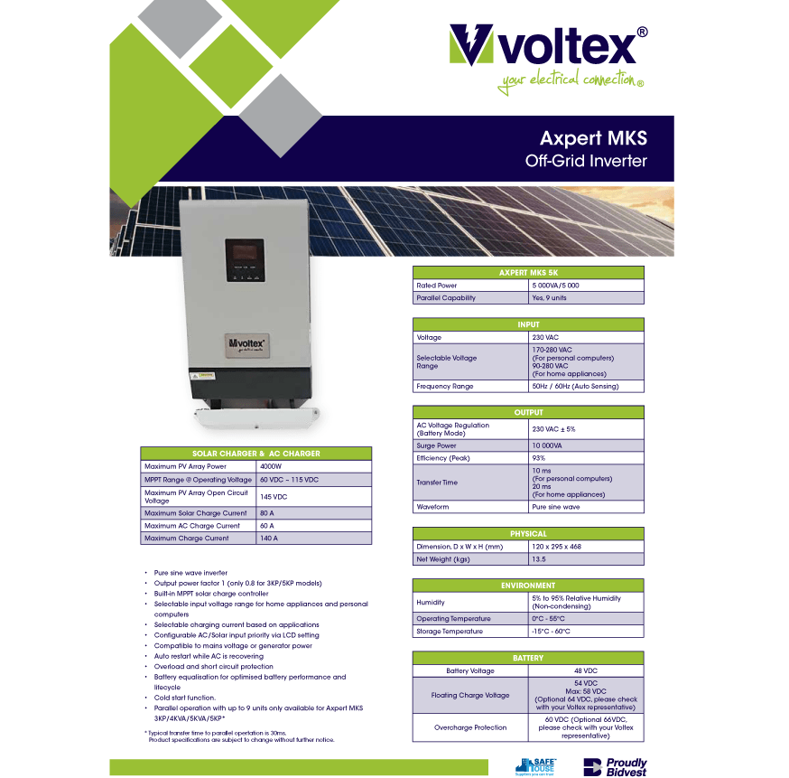 Axpert MKS Off-Grid Inverter