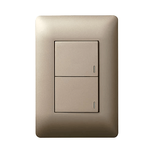 LEGRAND YSALIS 2 LEVER 1 WAY 2X4 SWITCH CHAMPAGNE