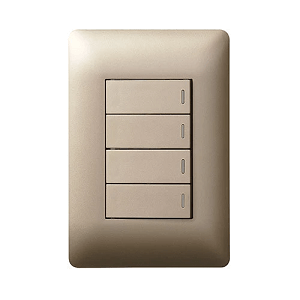 LEGRAND YSALIS 4 LEVER 1 WAY 2X4 SWITCH CHAMPAGNE