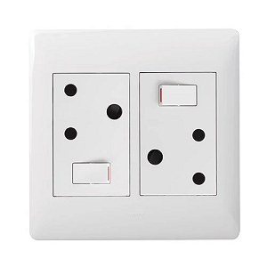 LEGRAND YSALIS 2X3PIN SOCKET WHITE