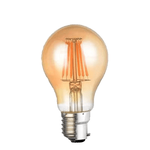 MESMERIZE PEAR SHAPED VINTAGE FILAMENT 6W A60 B22 DIMMABLE LED LAMP