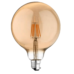 MESMERIZE OPAL SHAPED VINTAGE FILAMENT 6W G125 B22 DIMMABLE LED LAMP