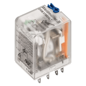 WEIDMULLER D-SERIES 220VAC 10A 8 PIN RELAY WITH LED 2 C/0