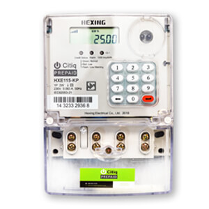 HEXING PREPAID METER SINGLE PHASE H007 HXE115-KP