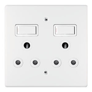 CRABTREE CLASSIC DOUBLE SOCKET COVER PLATE ONLY