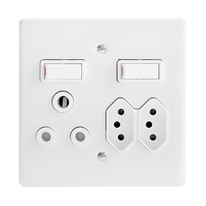 CRABTREE CLASSIC SWITCH SOCKET COMBO + YOKE ONLY