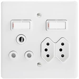 CRABTREE CLASSIC SOCKET COMBO COVER PLATE ONLY