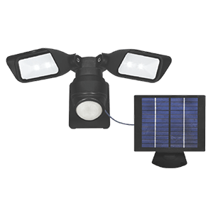WACO 4W SOLAR LED TWIN HEAD SENSOR LIGHT