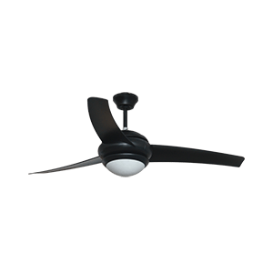 WACO CEILING FAN BLACK 52″ WITH REMOTE
