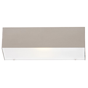 BRIGHTSTAR OUTDOOR LANTERN STAINLESS STEEL COMPACT FLUORESCENT FROSTED GLASS