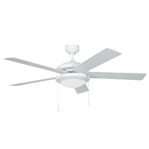 BRIGHTSTAR CEILING FAN 5 BLADE 52″ (132CM) WHITE FCF004
