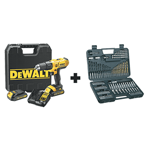 DEWALT CORDLESS DRILL & DRILL BIT SET 18V DCD776C2A-ZA