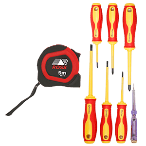 THREE-D STEEL TAPE & SCREWDRIVER SET