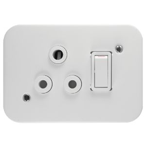 CRABTREE CLASSIC INDUSTRIAL SOCKET DEDICATED 16A SINGLE RED 7390/D