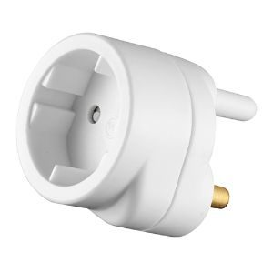 CRABTREE EUROMATE 16A TO SCHUKO 10A ADAPTOR C2011P
