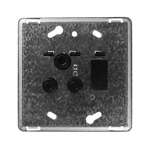 CRABTREE DIAMOND SWITCH SOCKET+YOKE 4X4 16A SINGLE HORIZONTAL 12161/008