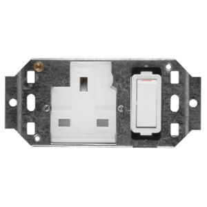 CRABTREE CLASSIC SOCKET COVER PLATE 4x2 13A WHITE 4556H
