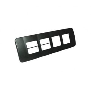 MAJORTECH VETI SWITCH COVER PLATE 290x90 4x1MOD 2x2MOD HORIZONTAL VB703GM