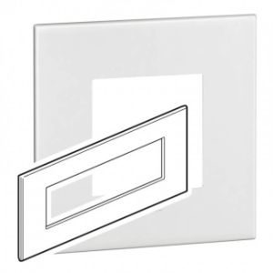 LEGRAND ARTEOR 8M SUPPORT + COVER PLATE WHITE 576700