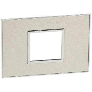 LEGRAND ARTEOR COVER PLATE 4x2 2MOD BRUSHED STAINLESS STEEL 575256