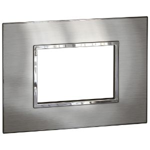 LEGRAND ARTEOR COVER PLATE 4x2 3MOD BRUSHED STAINLESS STEEL 575276