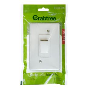 CRABTREE ISOLATOR +COVER 4x2 30A DOUBLE POLE WHITE  18110/101
