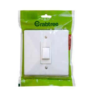 CRABTREE CLASSIC ISOLATOR +COVER 4x4 60A DOUBLE POLE P/P WHITE 18111/6/601