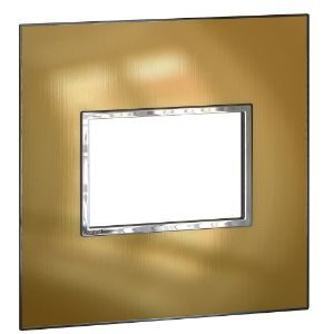 LEGRAND ARTEOR SWITCH COVER PLATE 4x4 3MOD BRUSHED GOLD  576640
