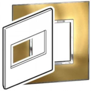 LEGRAND ARTEOR SWITCH COVER PLATE 4x4 4MOD BRUSHED GOLD  576650