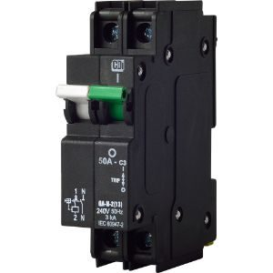 CBI MINIATURE CIRCUIT BREAKER 60A 1POLE+NEUTRAL 3KA CURVE-3