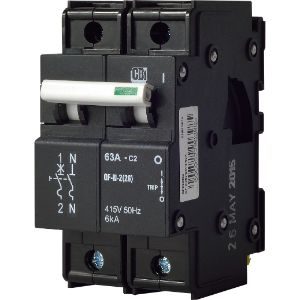 CBI MINIATURE CIRCUIT BREAKER 15A 1POLE+NEUTRAL 6KA CURVE-2 QFE21215