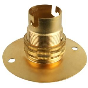 LAMPHOLDER 50/65MM BATTEN BC BRASS