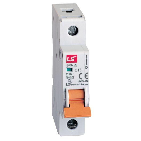 LS MINIATURE CIRCUIT BREAKER 63A 1POLE 6KA CURVE-D 061100111R0