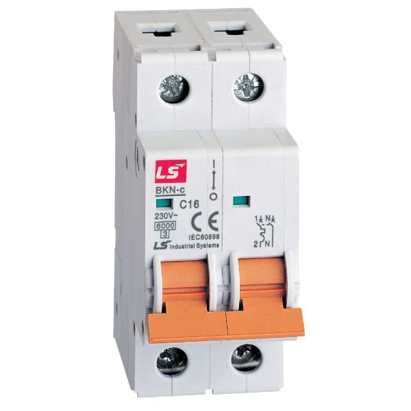 LS MINIATURE CIRCUIT BREAKER 16A 1POLE+NEUTRAL 6KA  06120206R0