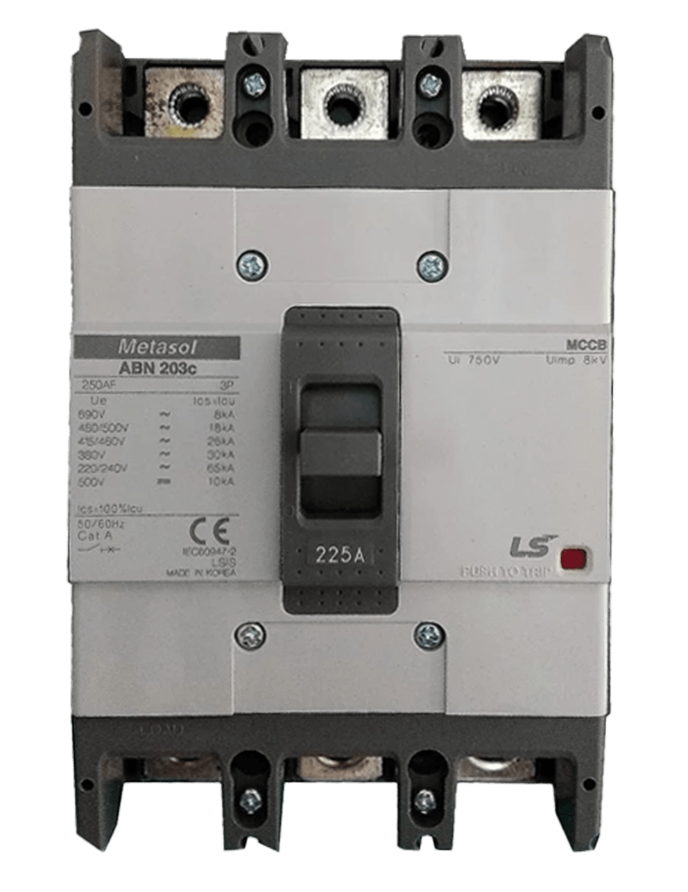 LS MOULDED CASE CIRCUIT BREAKER 225A 3POLE 26KA FIXED MAGNETIC  137005800