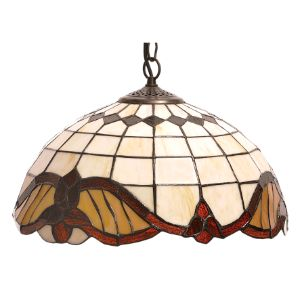 BRIGHTSTAR TIFFANY GLASS PENDANT 60W E27 BROWN PEN406/1