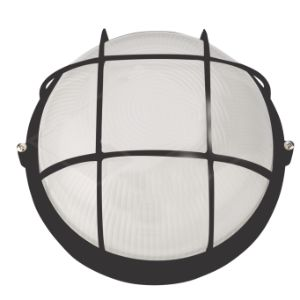 WACO ROUND BULKHEAD 60W WITH GRID BLACK 1301-B49/G/BLK