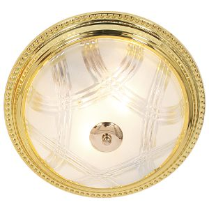 BRIGHTSTAR ROUND CEILING FITTING 2X60W E27 CF214 GOLD