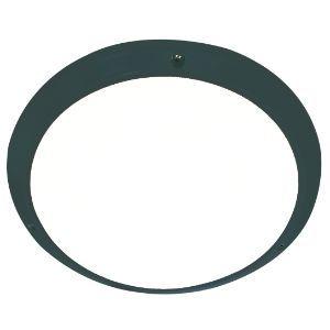 BRIGHTSTAR ROUND PLASTIC BULKHEAD 60W E27 BH114 BLACK