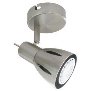 BRIGHTSTAR SPOTLIGHT 50W GU10 LED OR CFL S157/1 SATIN