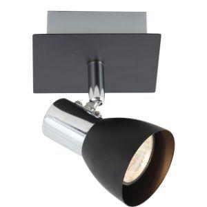 BRIGHTSTAR SPOTLIGHT 50W GU10 LED OR CFL S056/1 BLACK