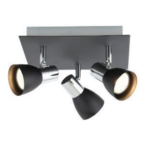 BRIGHTSTAR SPOTLIGHT 50W GU10 LED OR CFL S056/3 BLACK