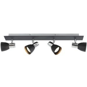 BRIGHTSTAR SPOTLIGHT 50W GU10 LED OR CFL S056/4 BLACK