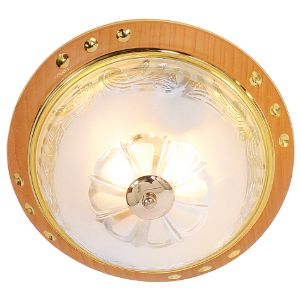 BRIGHTSTAR ROUND CEILING FITTING 60W E27 CF215 GOLD