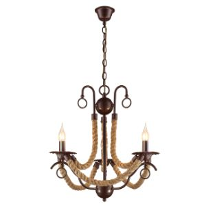 BRIGHTSTAR CHANDELIER 3X60W E14 CH475/3 BROWN
