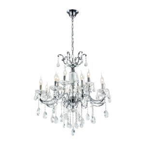 BRIGHTSTAR CHANDELIER 8+4LIGHT CHROME CH426/8+4
