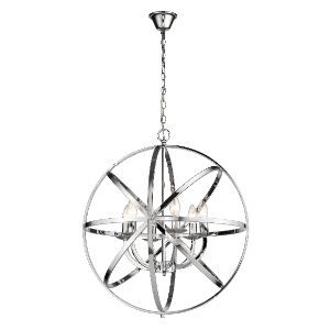 BRIGHTSTAR PENDANT FITTING 6X40W E14 CHROME PEN700/6