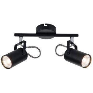 BRIGHTSTAR SPOTLIGHT FITTING 2X50W GU10 BLACK S400/2