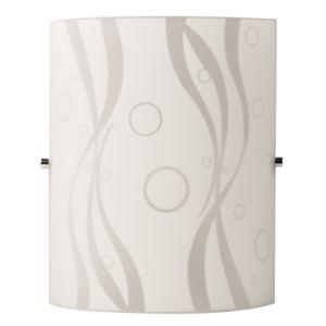 BRIGHTSTAR WALL LIGHT FITTING 60W E27 PATTERN GLASS  CHROME CLIPS WB078/1 WHITE