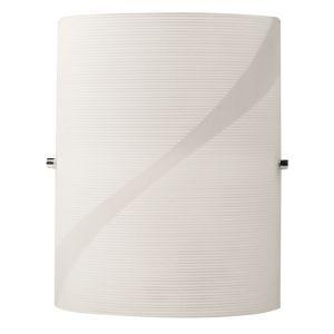 BRIGHTSTAR WALL LIGHT FITTING 60W E27 PATTERN GLASS  CHROME CLIPS WB081/1 WHITE